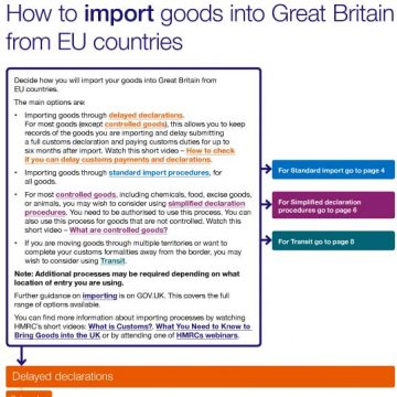 How to import goods into Great Britain from the EU