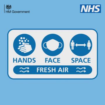 New slogan – Hands Face Space Fresh Air